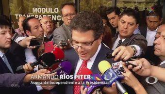 Ríos Piter califica proceso de revisión de firmas como 'simulación'