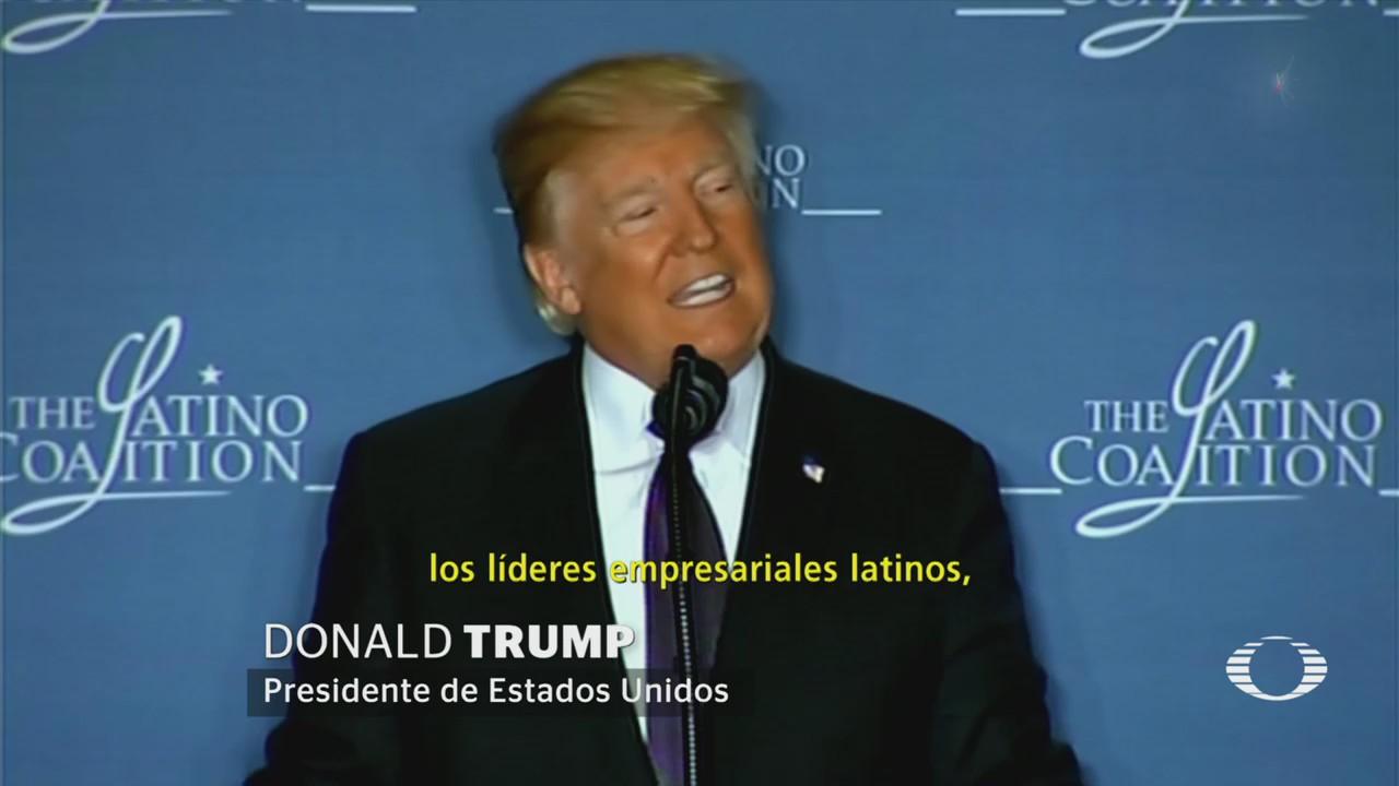 Sorprende Trump en primer discurso ante jóvenes latinos, en Washington