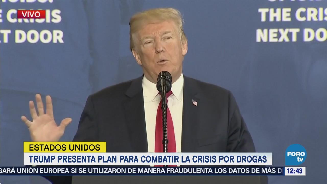 Trump presenta plan para combatir crisis por drogas