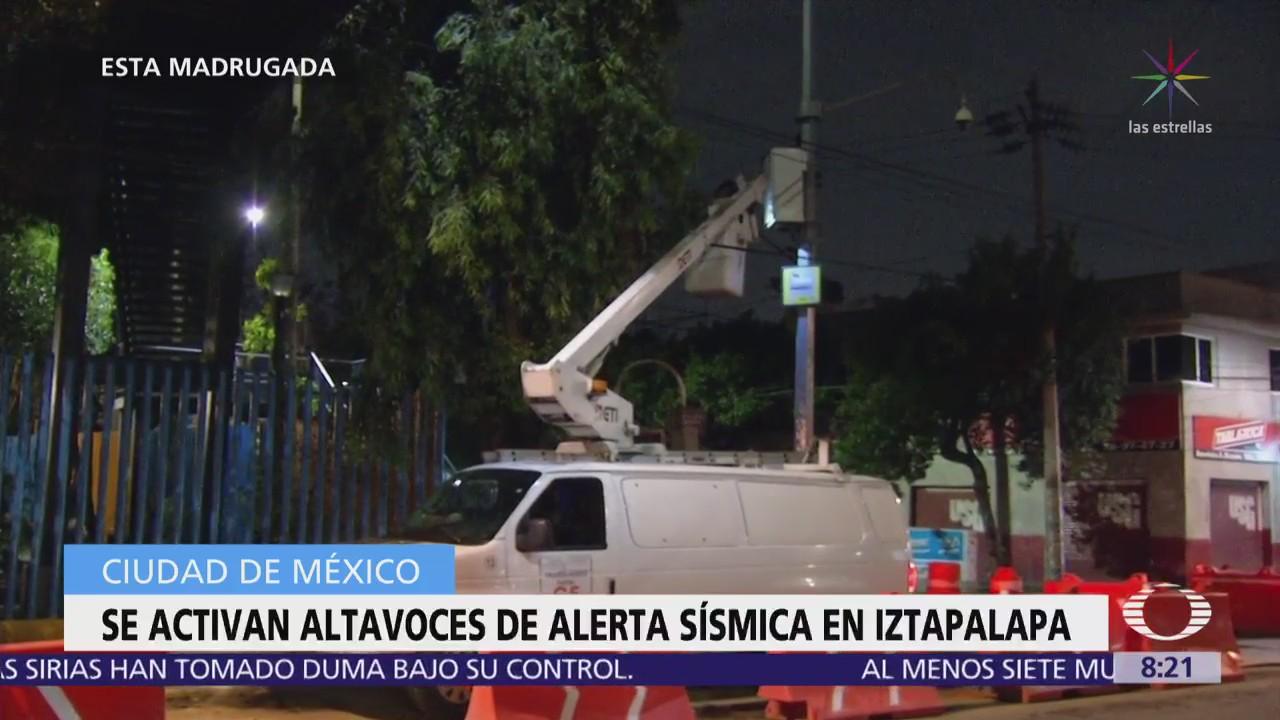 Activan alerta sísmica en Iztapalapa, CDMX