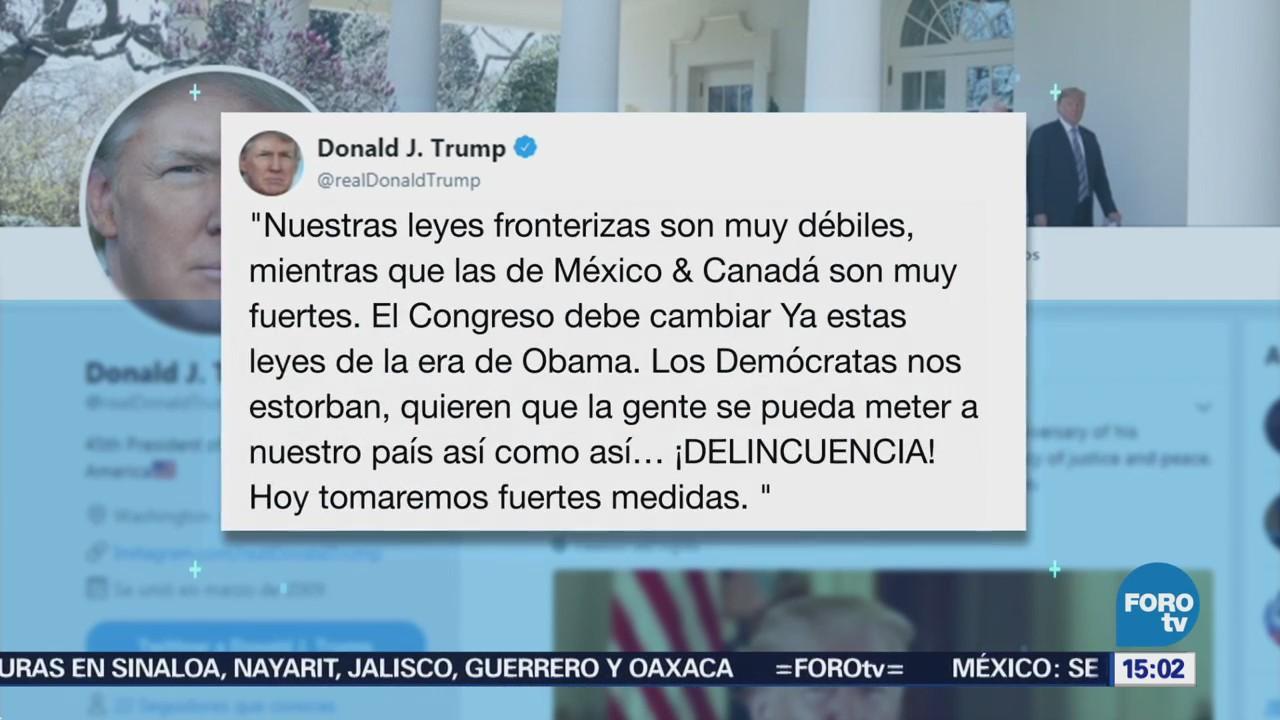 Amenaza Trump con fuertes medidas migratorias