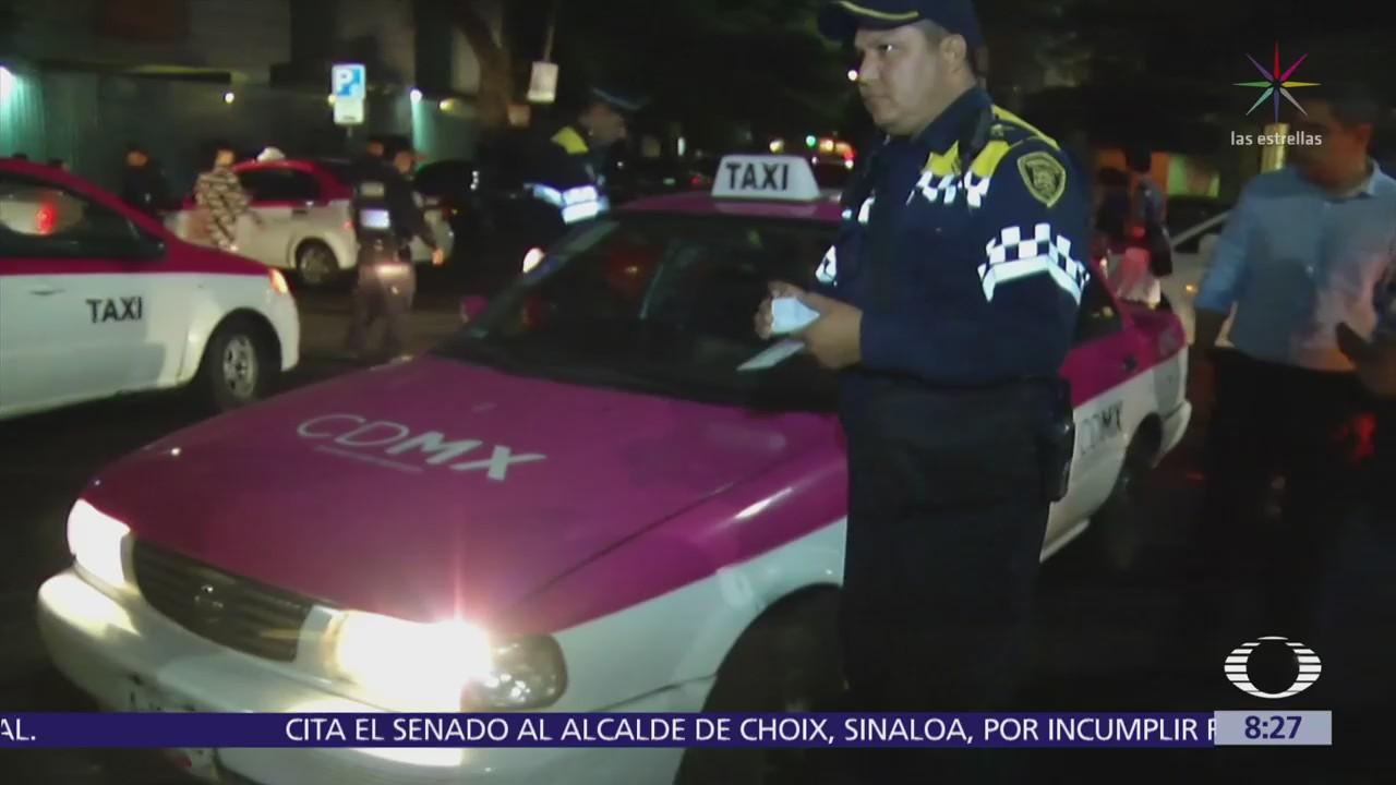 Buscan a choferes de taxi por drogar y asaltar a pasajeros en CDMX