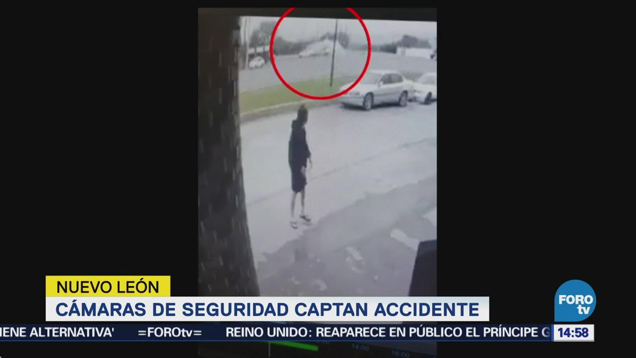 Captan en video un choque en la carretera Miguel Alemán