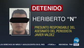 CNS confirma aprehensión del presunto asesino del periodista Javier Valdez