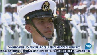 Conmemoran 104 Aniversario Gesta Heroica Veracruz