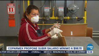 Coparmex propone subir salario mínimo a 98.15 pesos