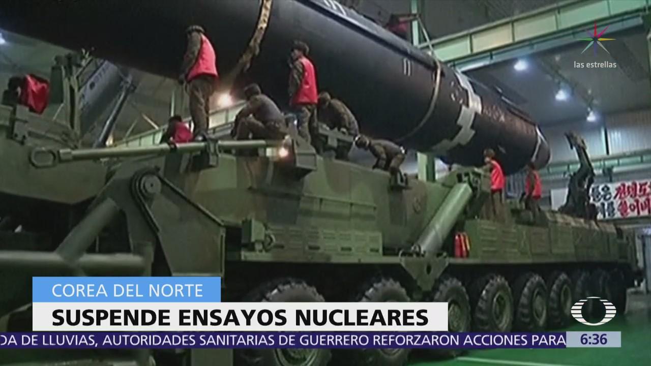 Corea del Norte anuncia suspensión de ensayos nucleares y de misiles