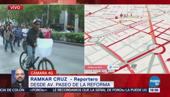 Damnificados Oaxaca Marchan Paseo De La Reforma CDMX Gobernación
