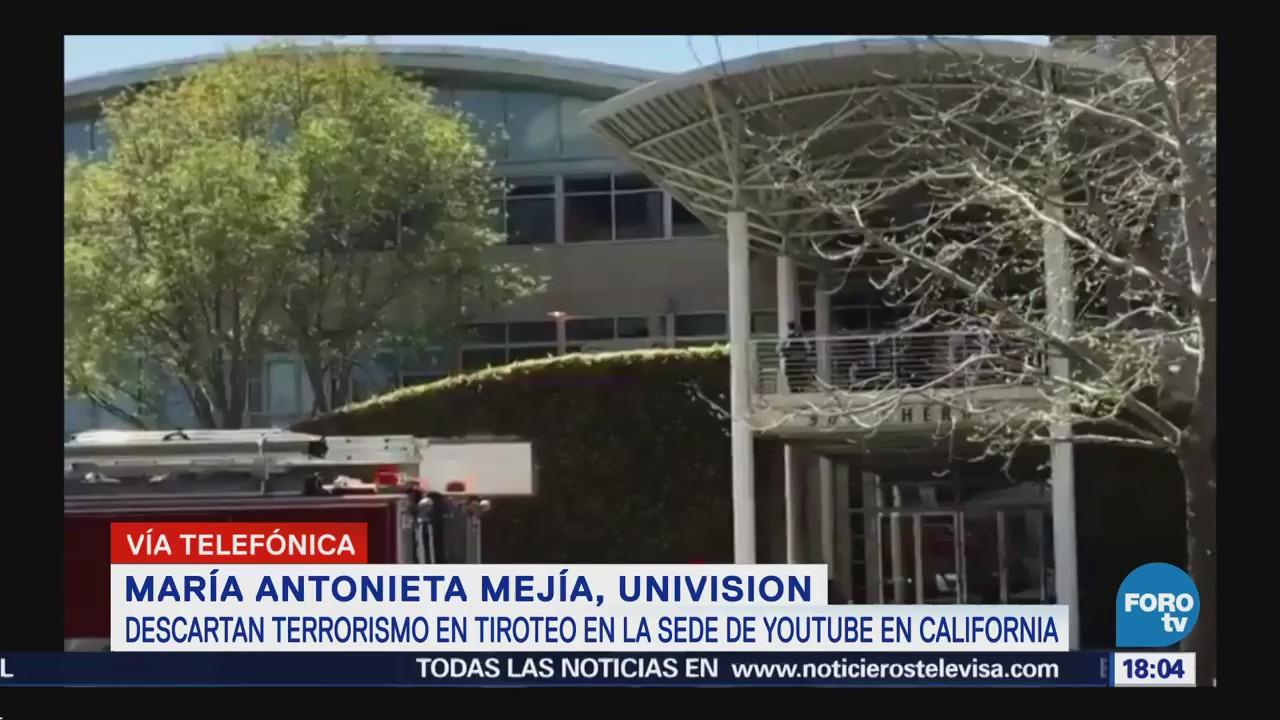 Descartan Terrorismo Tiroteo Sede Youtube