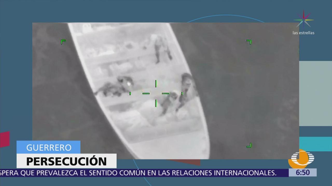 En Acapulco, Semar persigue con aeronave y lanchas a traficantes de cocaína