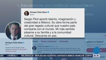 Epn Destaca Legado Cultura Escritor Sergio Pitol