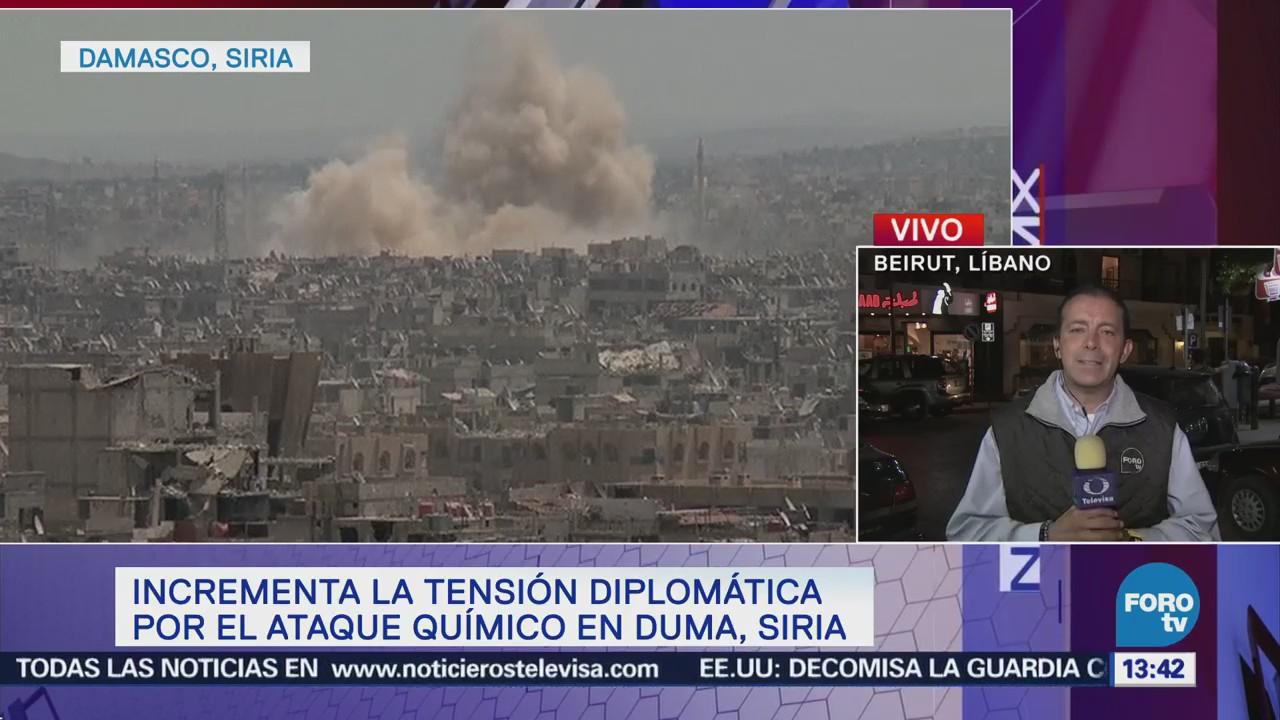 Incrementa Tensión Diplomática Ataque Químico Duma, Siria