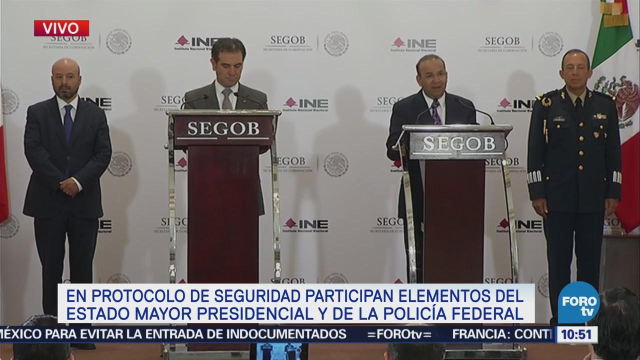 INE presenta ante Segob protocolo de protección personal a candidatos presidenciales