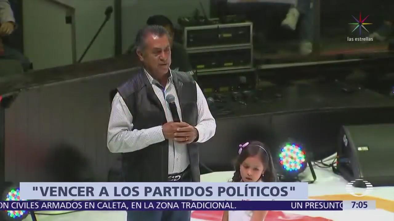 Jaime Rodríguez se suma a petición para renunciar al dinero de campaña
