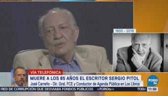 José Carreño: Sergio Pitol logró innovar en la literatura española