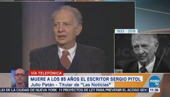 Julio Patán dice que Sergio Pitol fue un gran narrador mexicano
