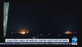 Lanzan 105 Misiles Contra Objetivos Siria