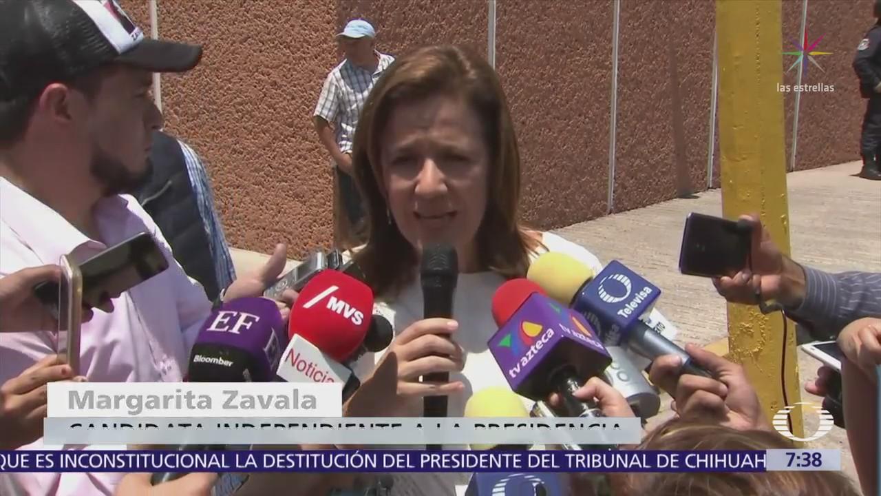 Margarita Zavala dice que combatirá feminicidios y desaparición de niños y adolescentes