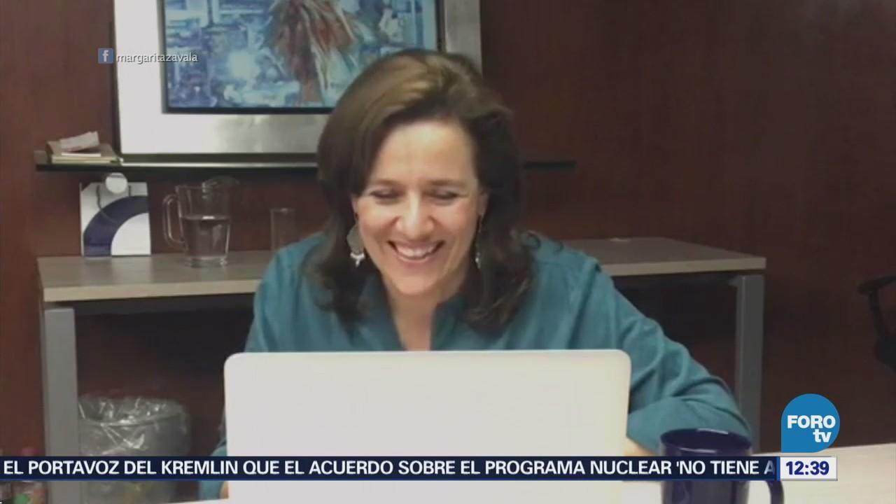 Margarita Zavala expresa solidaridad con familiares de estudiantes de cine asesinados