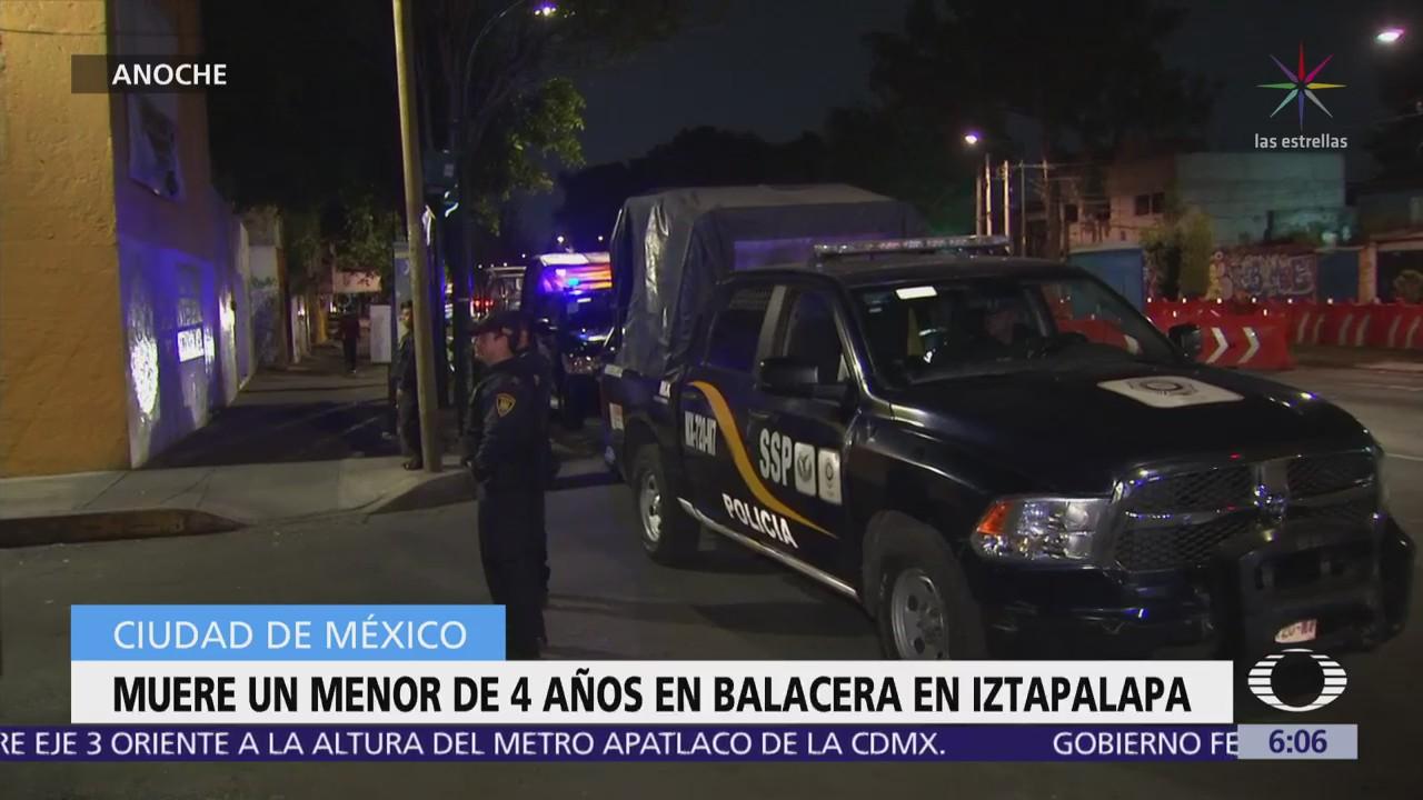 Niño de 4 años muere durante una balacera en Iztapalapa