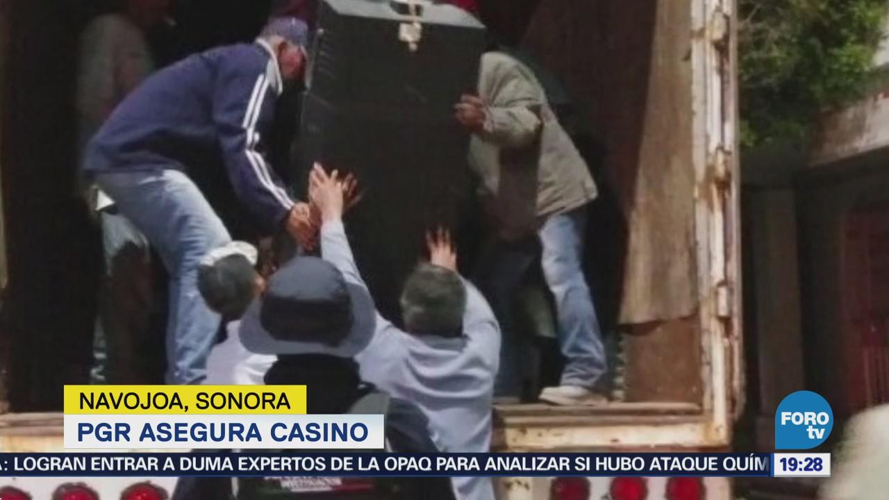 Pgr Asegura Casino Navojoa, Sonora