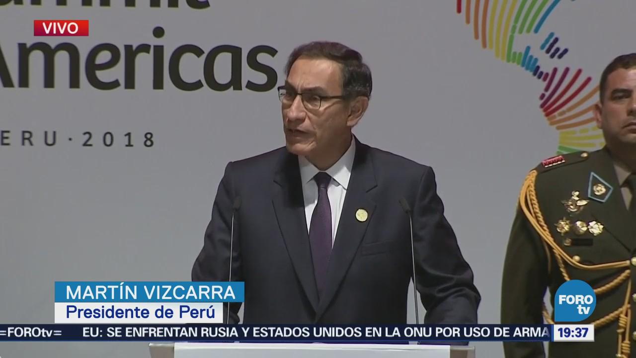 Presidente Perú Martín Vizcarra Inaugura Cumbre Américas