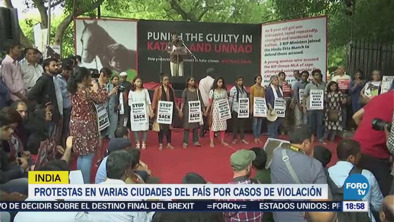Protestas India Casos Violación Asesinato De Niñas
