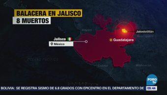 Reportan ocho muertos por enfrentamiento armado en Jalostitlán, Jalisco