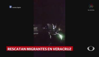 Rescatan a 98 migrantes centroamericanos, en Veracruz