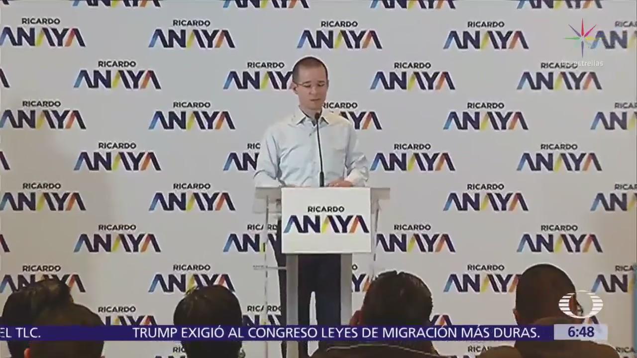Ricardo Anaya urge a crear una Fiscalía General y una Fiscalía Anticorrupción