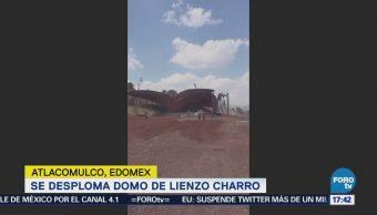 Se desploma domo de Lienzo Charro en Atlacomulco, Edomex