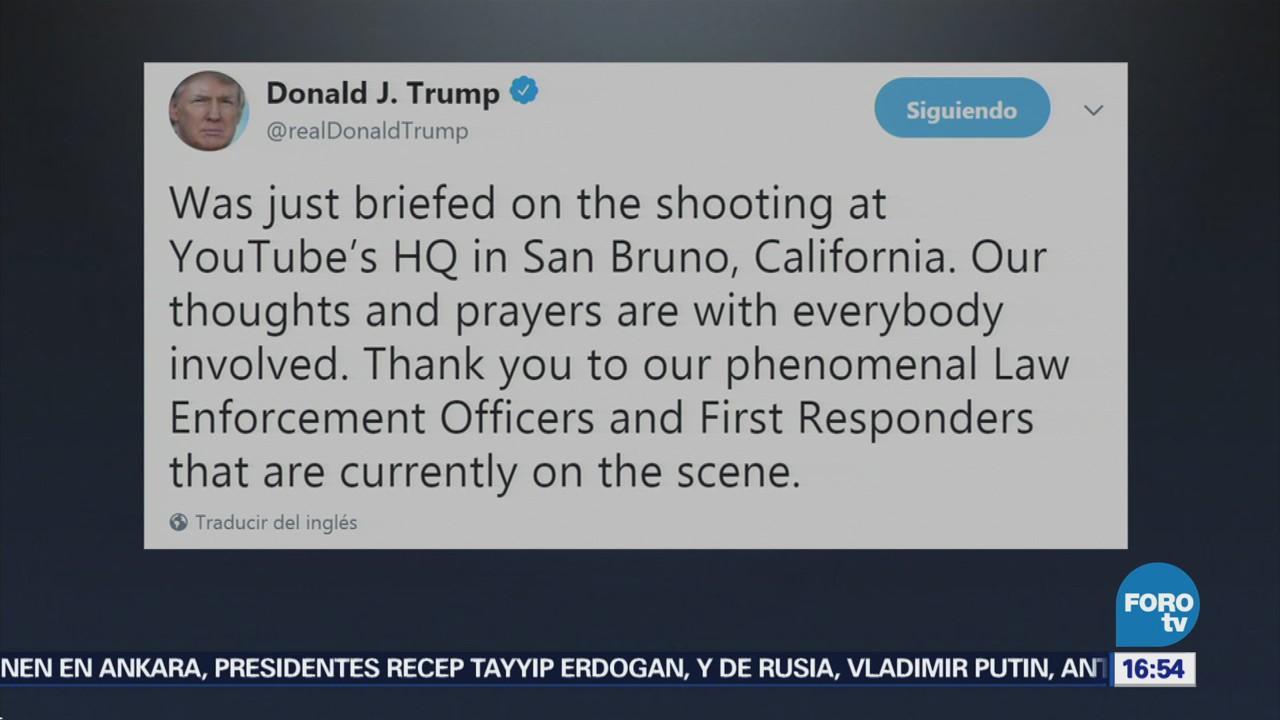 Trump Envía Condolencias Tiroteo Sede Youtube