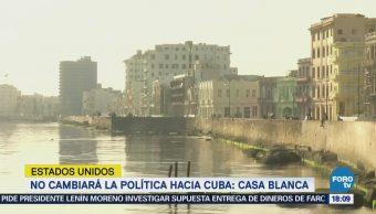 Trump no cambiará su política hacia Cuba