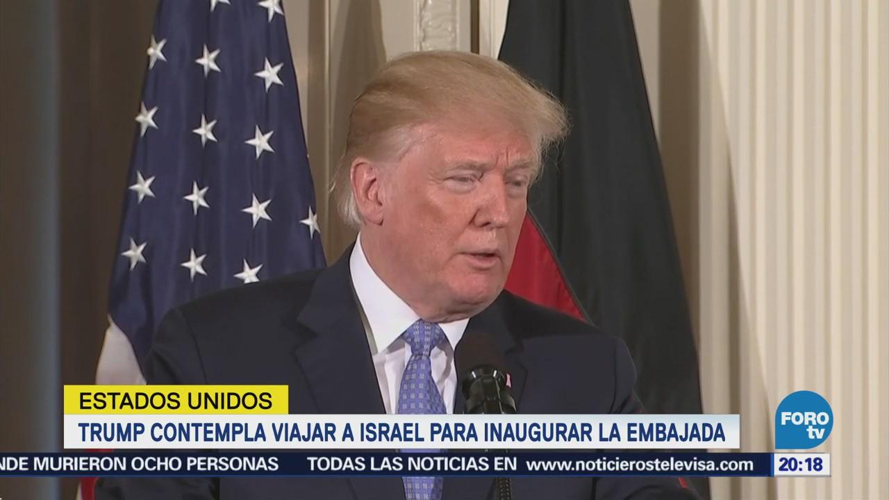 Trump Podría Asistir Inauguración Embajada Estadounidense Jerusalén