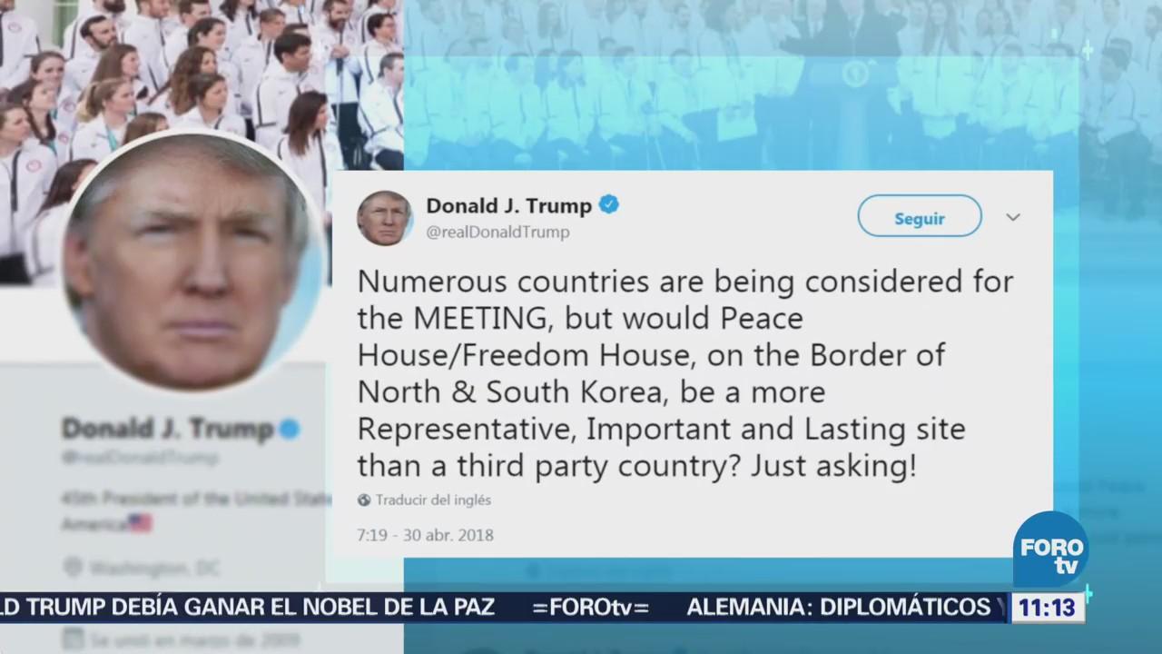 Trump propone reunión con Kim Jong-Un en frontera de las dos Coreas