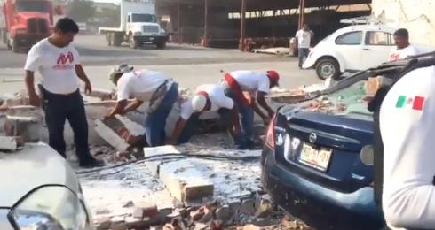 Vientos intensos afectan Veracruz y Boca del Río; tiran árboles y postes