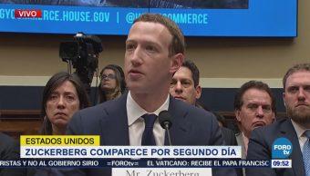 Zuckerberg comparece por segundo día
