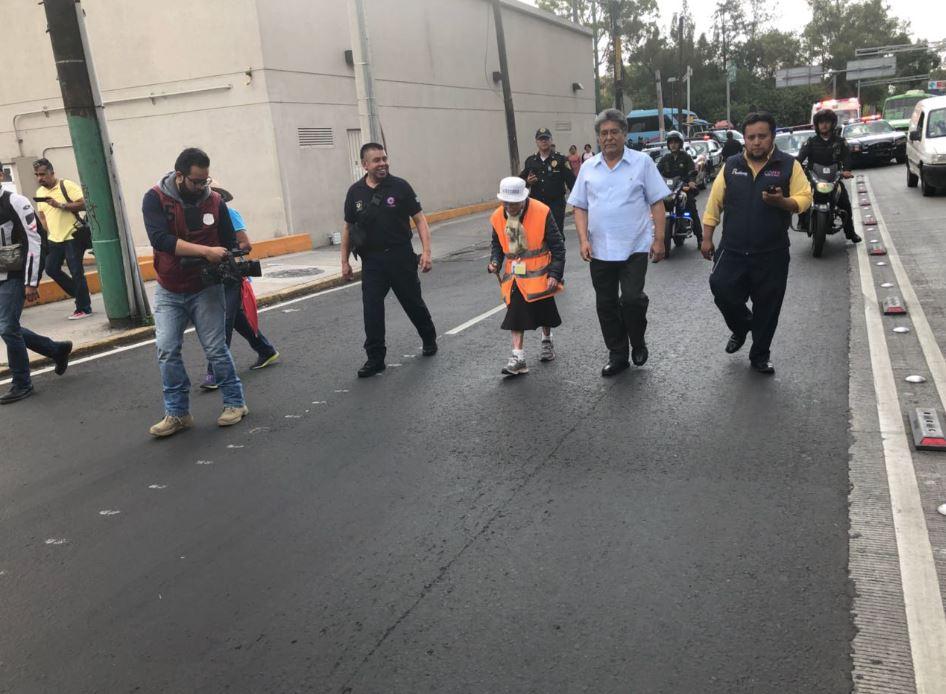 'La abuelita peregrina' llega a la Basílica de Guadalupe