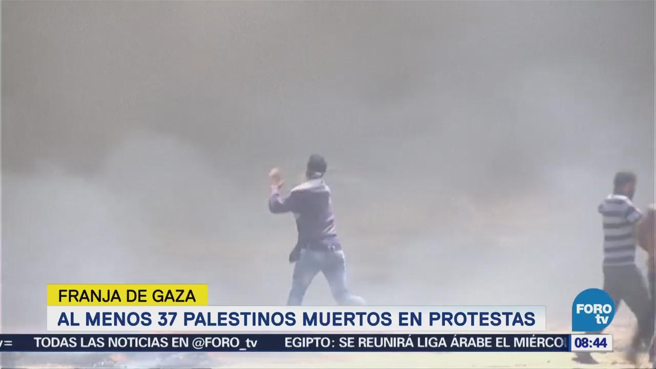 Al menos 37 palestinos mueren en protestas en Gaza