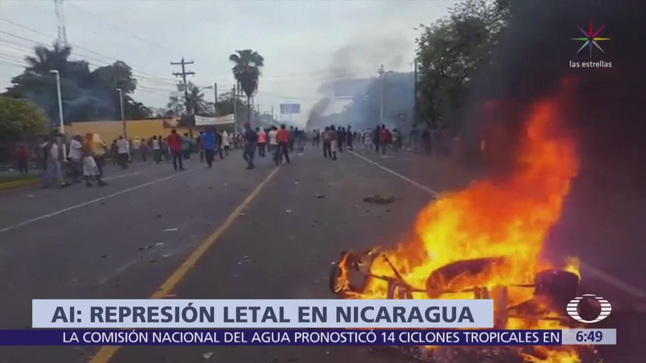 Amnistía Internacional denuncia represión en Nicaragua