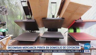 Aseguran 500 Piezas Ropa Pirata Coyoacán