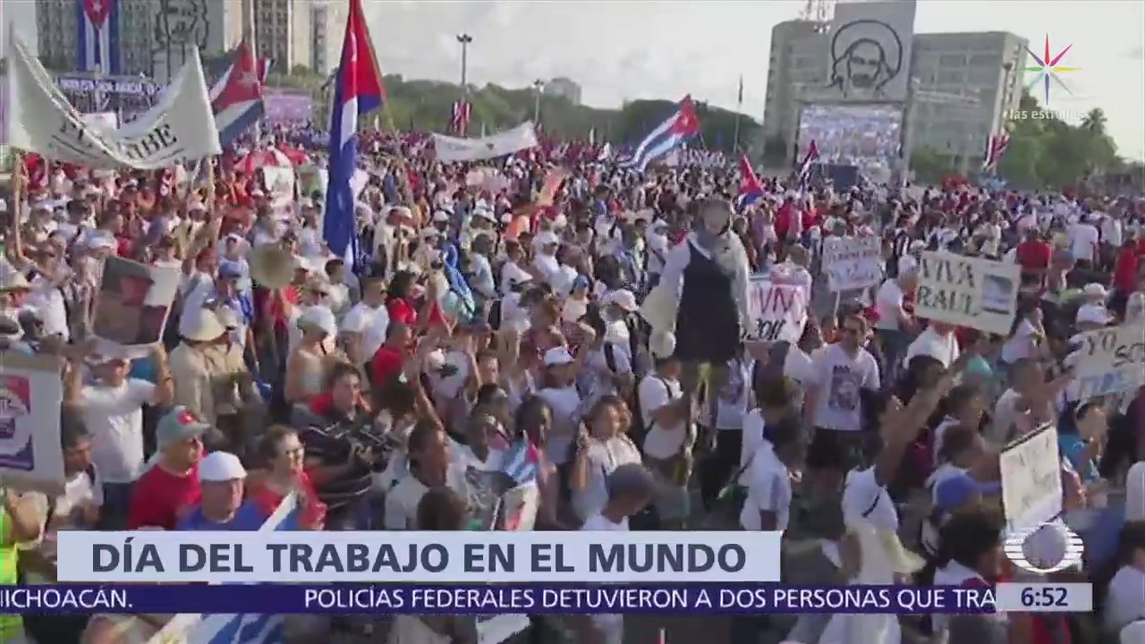 Así fueron las marchas del Día del Trabajo en el mundo