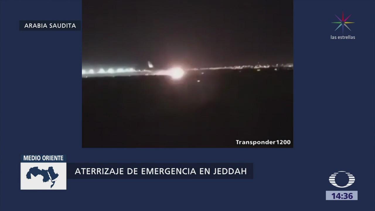 Aterrizaje Emergencia Arabia Saudita