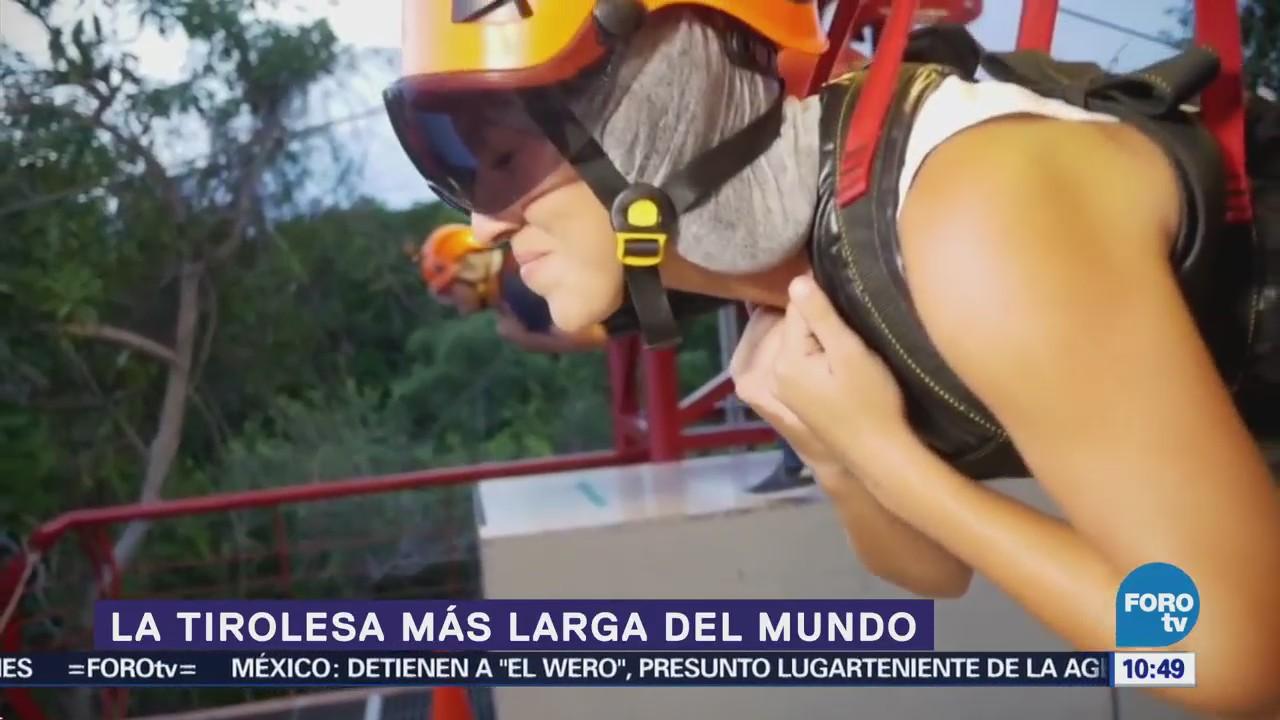 La tirolesa más larga del mundo está en Acapulco