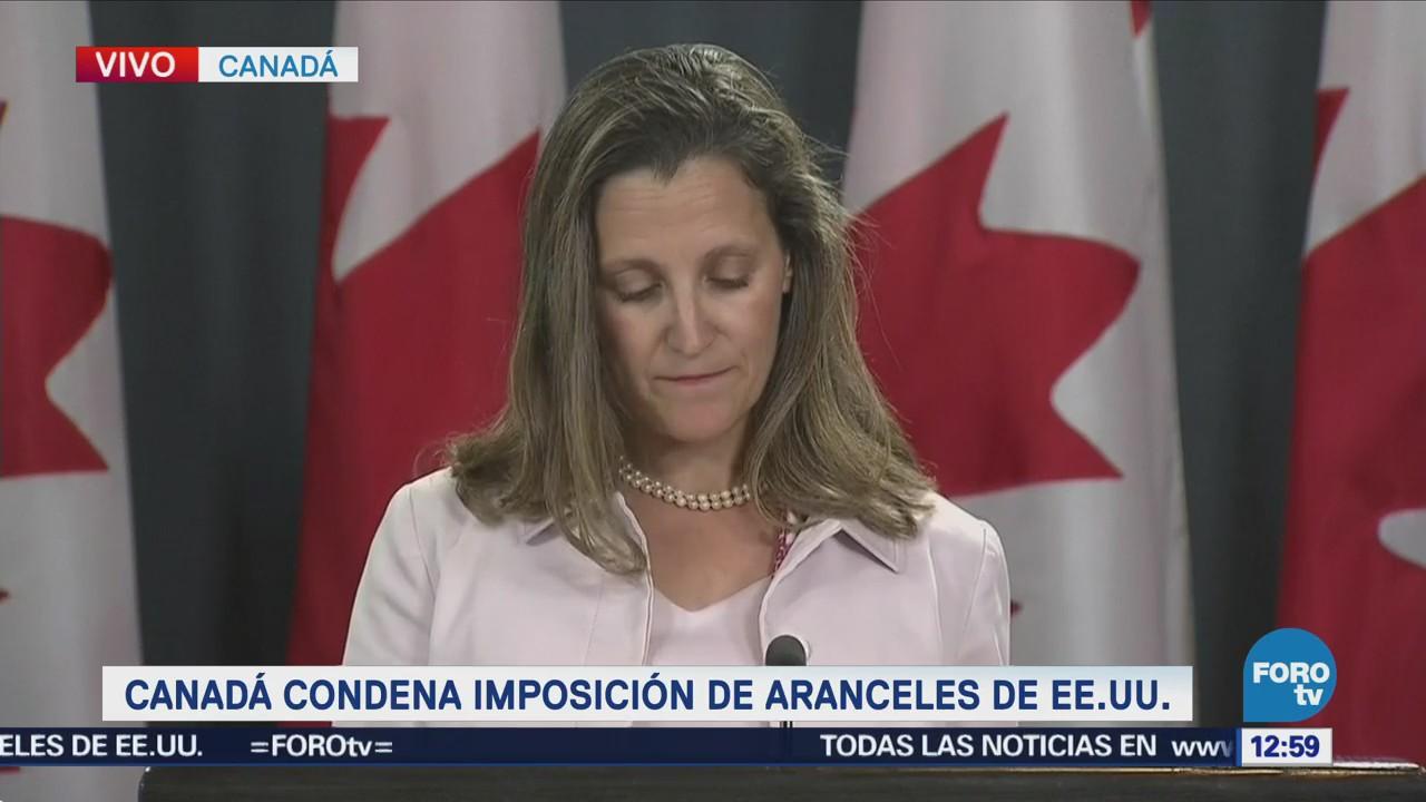 Canadá condena imposición de aranceles de EU