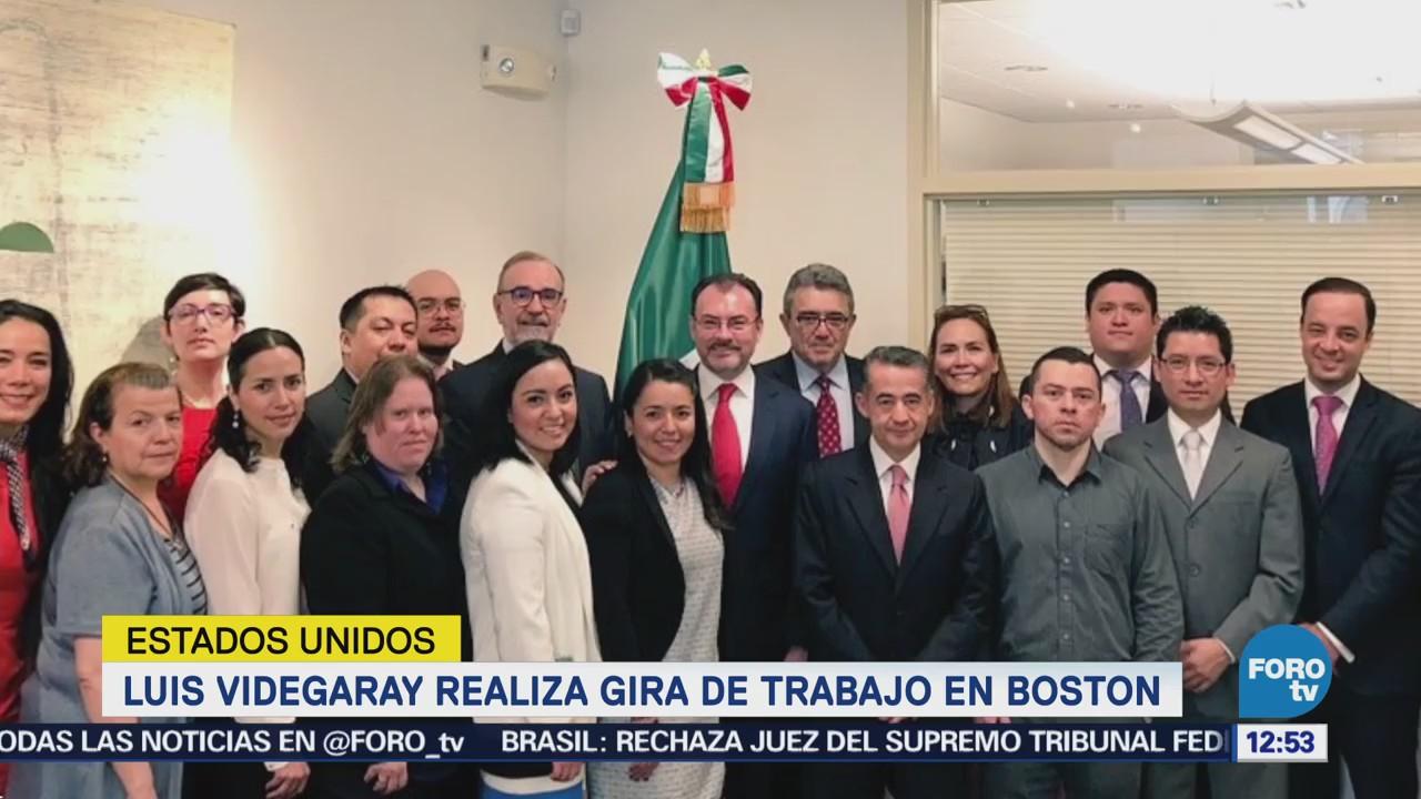 Canciller Luis Videgaray realiza gira de trabajo por Boston
