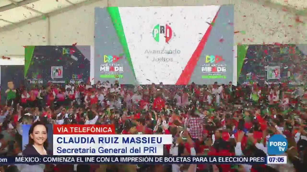 Claudia Ruiz Massieu: Campaña de Meade se enfocará en el trabajo territorial