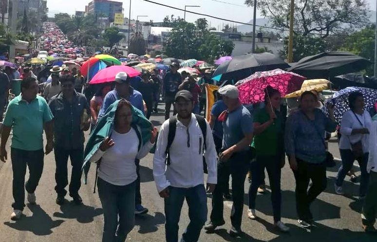 CNTE instala plantón en Centro Histórico de Oaxaca