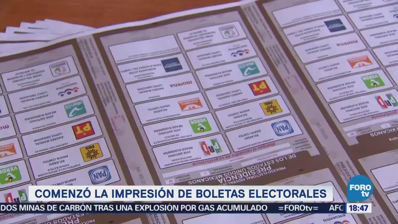 Comenzó la impresión de boletas electorales