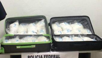 Decomisan 31 bolsas con crystal ocultas en un autobús en Sinaloa